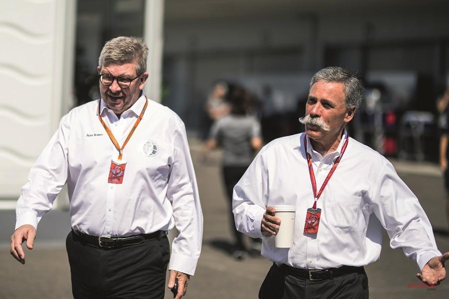 支配階級:F1でCEOを務めるキャリー(右)とスポーツ・ディレクターのブラウン